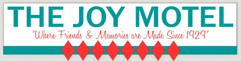 Logo for Welcome to the Joy Motel in Eureka Springs, Arkansas